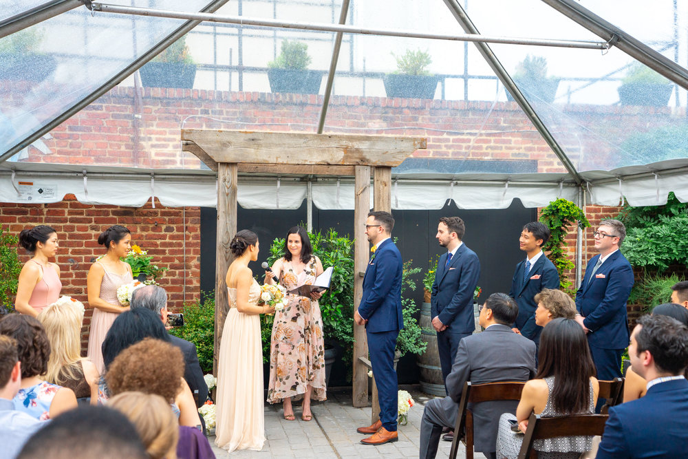 Wedding at Gallery O on H with clear tent in Washington DC by Jessica Nazarova