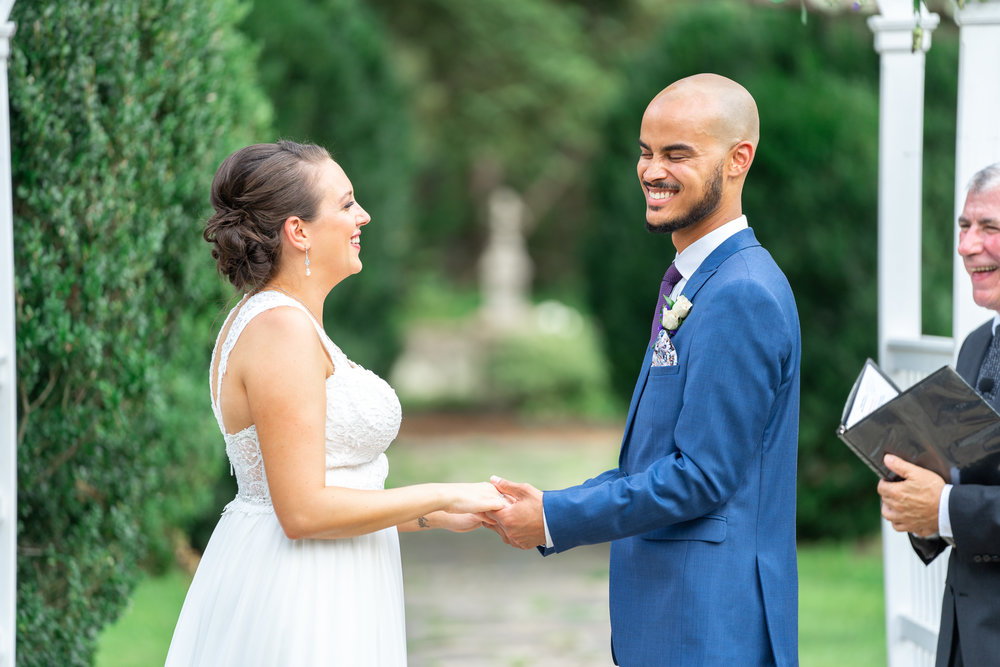 Leesburg wedding ceremony at Rust Manor House in the summer