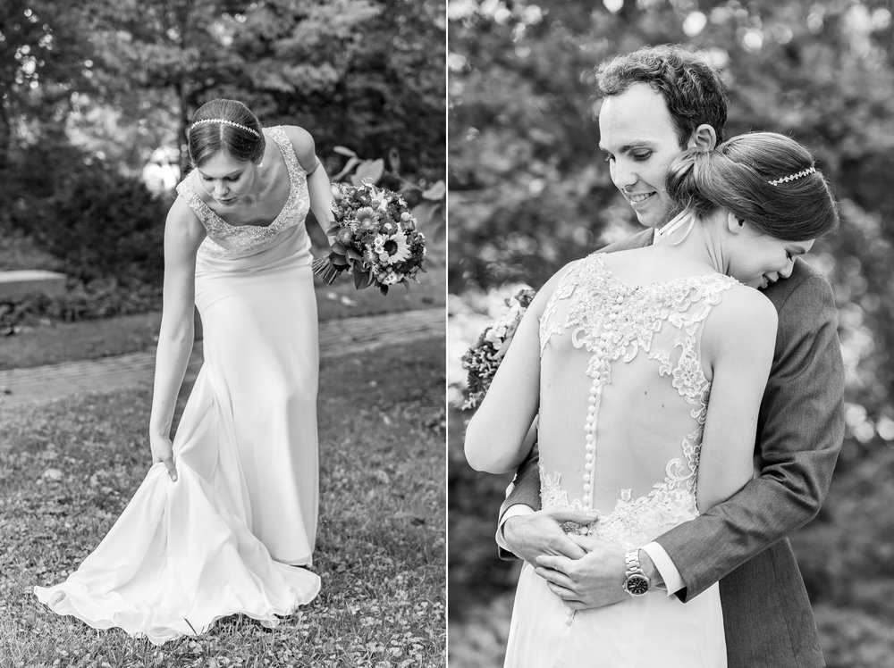 Bride wearing Morilee Myka at Elkridge Furnace Inn wedding in September