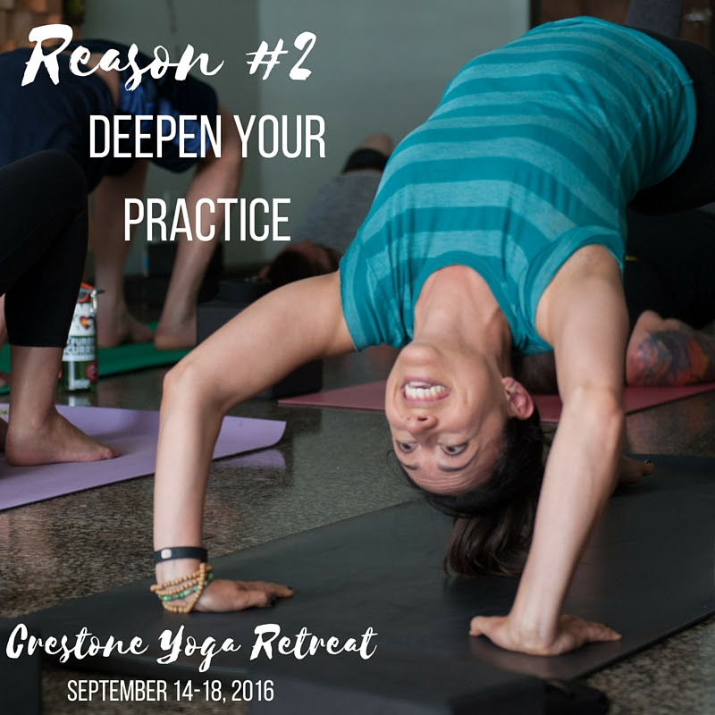Deepen your practice by hitting the mat every day.