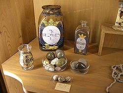 People used to make potions with bezoars as they were thought to ward off evil and used as antidotes. Image courtesy of:   http://upload.wikimedia.org/wikipedia/commons/thumb/b/b6/Bezoare.jpg/250px-Bezoare.jpg