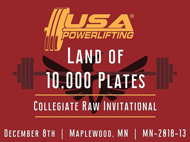 The 2018 USAPL Land of 10,000 Plates Collegiate Raw Invitational will he held at American Strength Training Center in December 8th!  Event starts at 9am, $10 entry at the door, children 12 and under are free. Come on down to watch these teams compete in a day of lifting and fun.