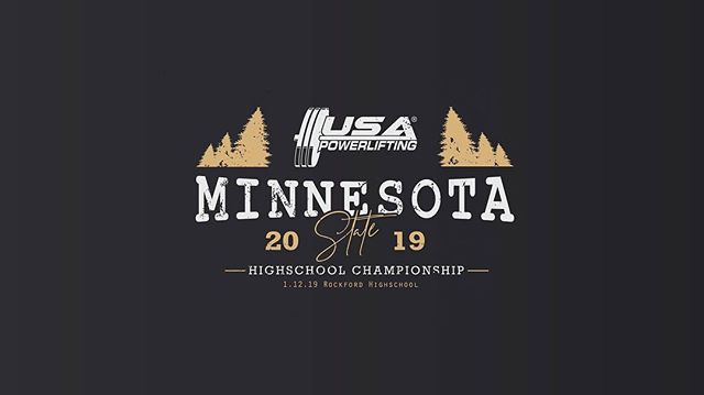 Good luck to all the lifters competing at the 2019 USAPL MN State High School Championship, including American Strength lifters @tren_tonpowerlifting105kg and @mj_thelastbarbender  Go out and support the sport January 12th at Rockford Highschool!