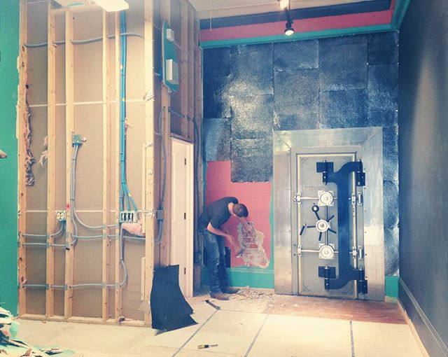 Throw baaaaack Thursday, to when we first started exposing brick @thesidecarlounge.  #tbt #thewenatcheehotel #remodel #outwiththenew #inwiththeold