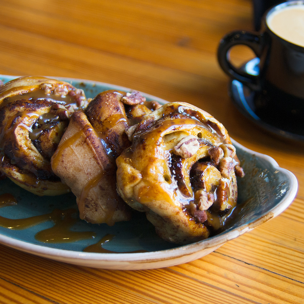 Hot pecan caramel rolls, from Cafe Benelux.