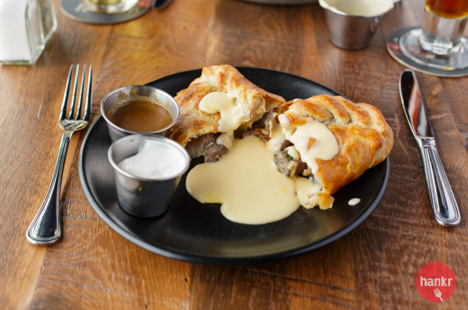 Cornish Pasty with Beer Cheese Soup