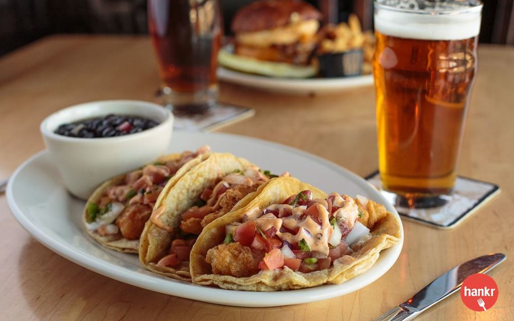 Fish Tacos from St. Francis Brewery