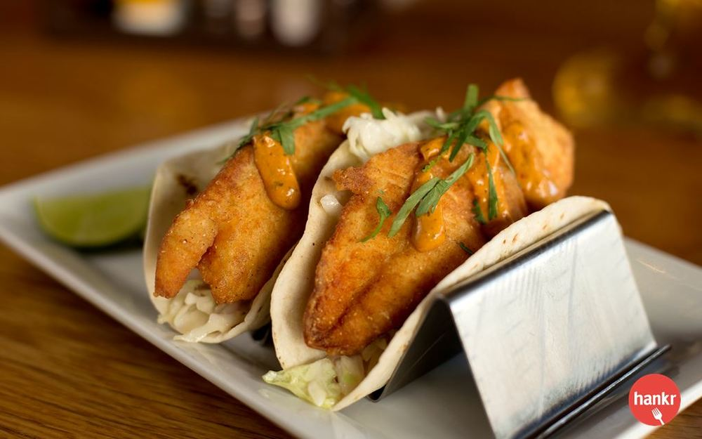 Crispy Fish Tacos  from  Miller Time Pub & Grill