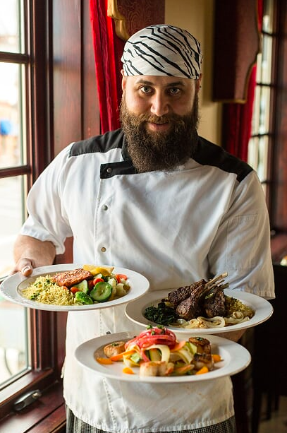 Casablanca chef displaying his dishes
