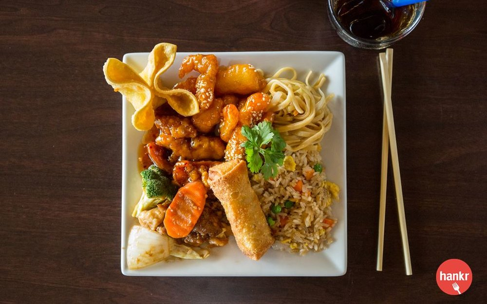 Build a meal for yourself or for a group from our Asian buffet of noodles, rice, stir fried veggies, meats, sauces, egg rolls and more. Available every day for $8.99 per pound.