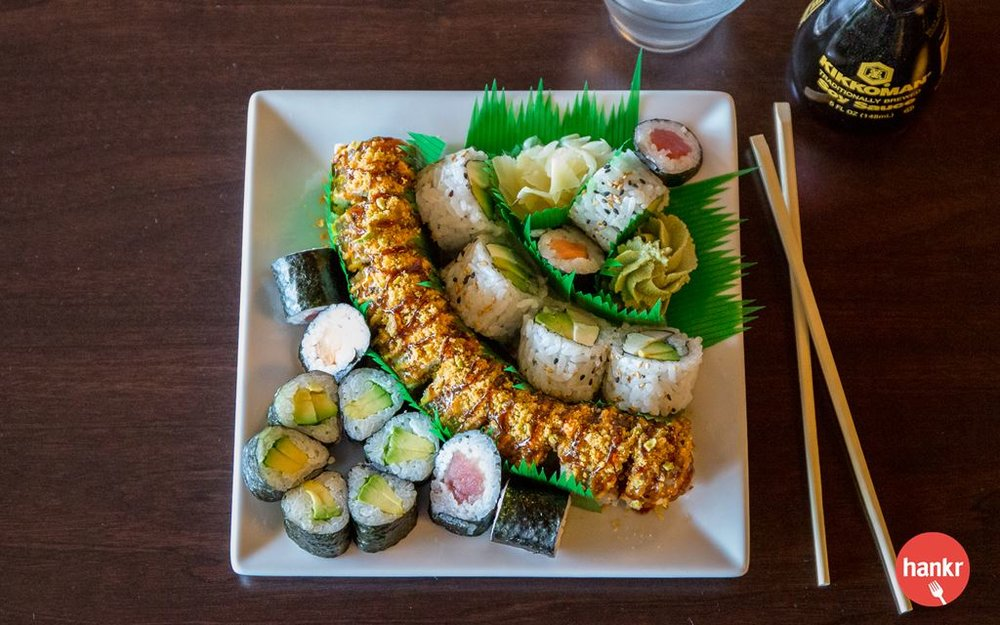 Metcalfe's Market has a selection of fresh-made sushi rolls available everyday. You'll typically find California Rolls, Sriracha Party Rolls, Veggie Rolls, Philadelphia Rolls and more! Prices range from $6.49 to $9.99 each.