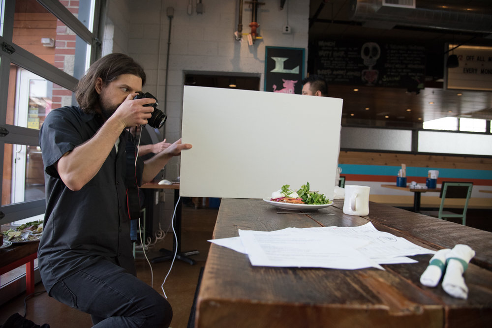 Our food photographers travel light, and shoot fast during open hours.