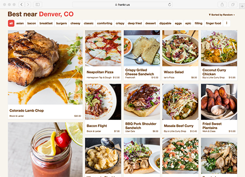 Click to view the full food-first experience that we can add to your site.