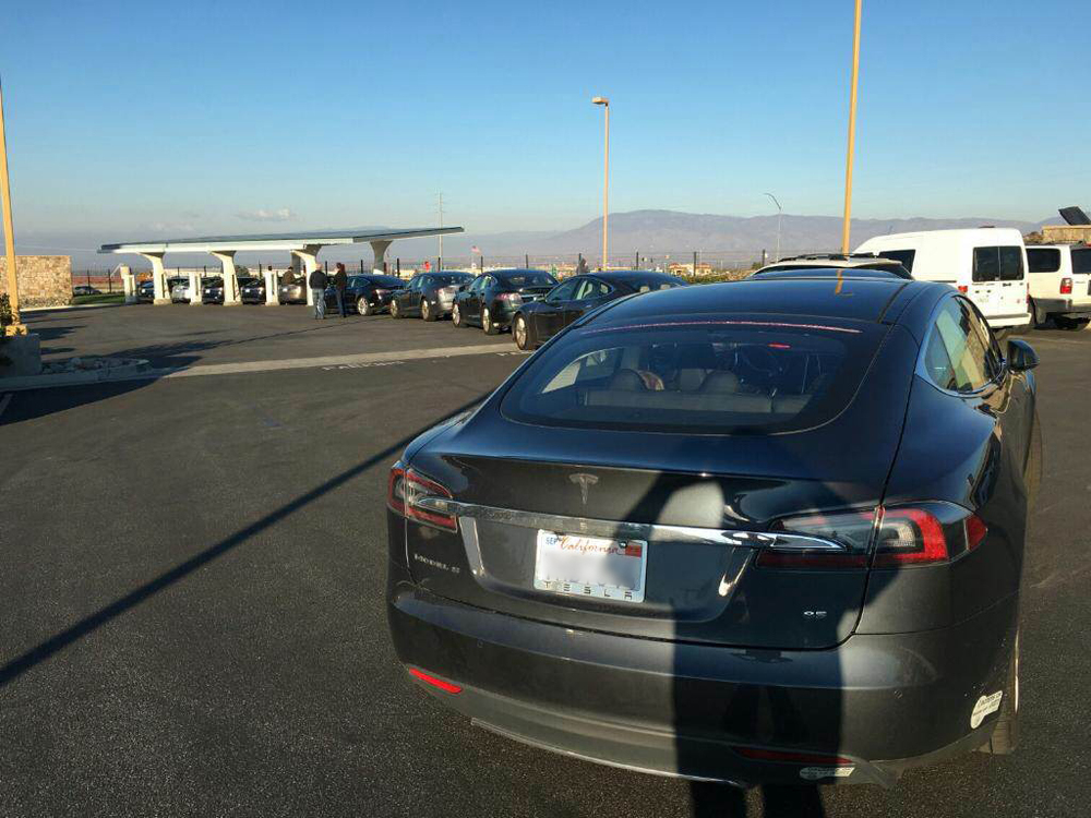 cited by FreeWire team - EV backup at tesla supercharger