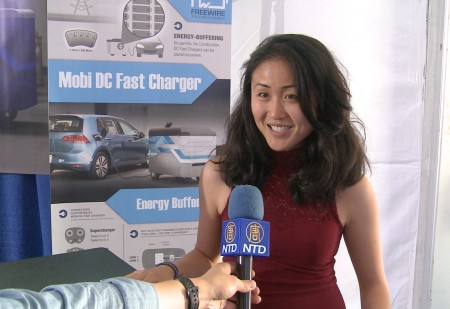 Serena Xu speaks to report about mobile EV charging with FreeWire's Mobi Chargers