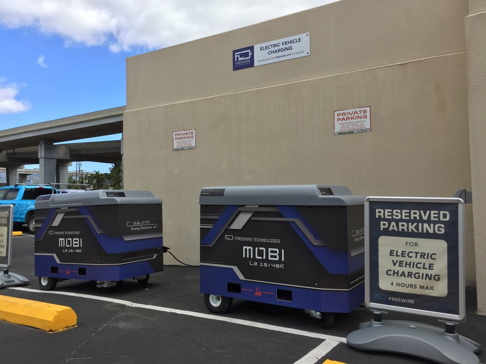 Mobi Charger L2F at Airport Trade Center in Honolulu, Hawaii