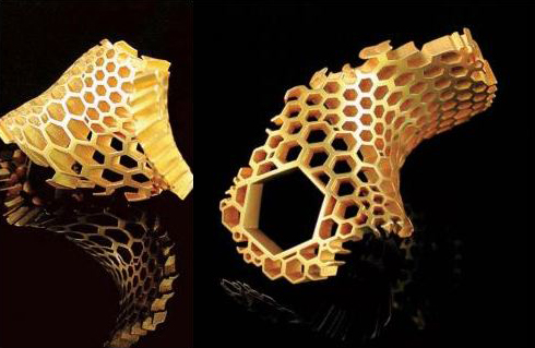 Karolina Bik's - Honeycomb Ring