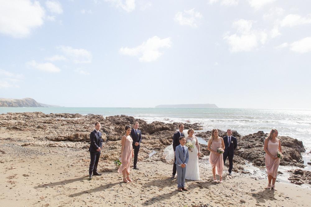 Plimmerton beach wedding photos