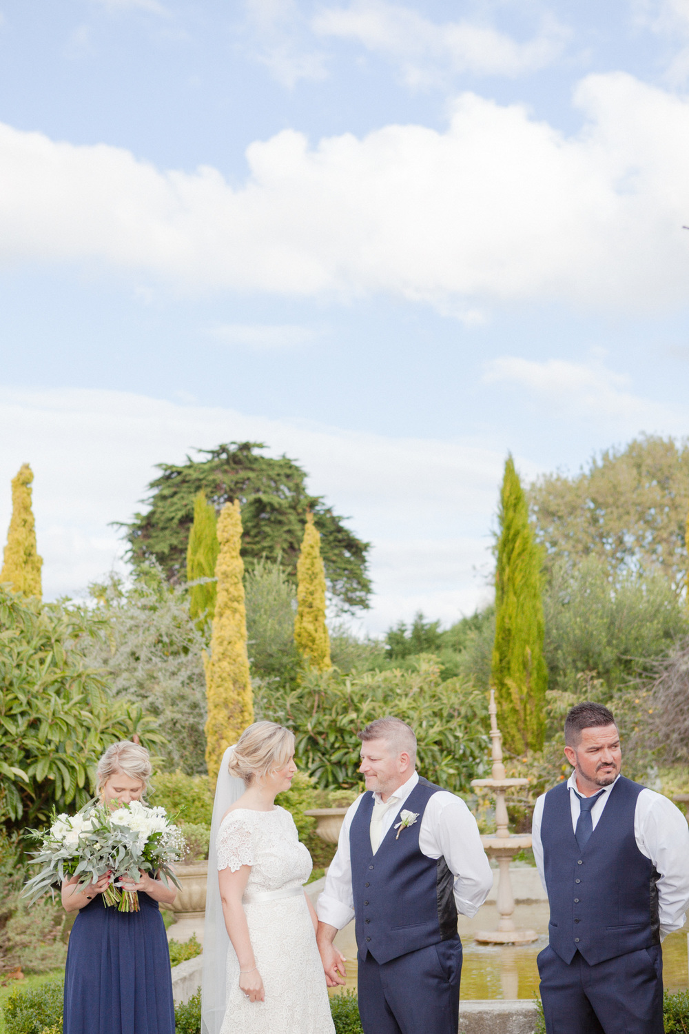 Stunning outdoor wedding ceremony at The Milk Station