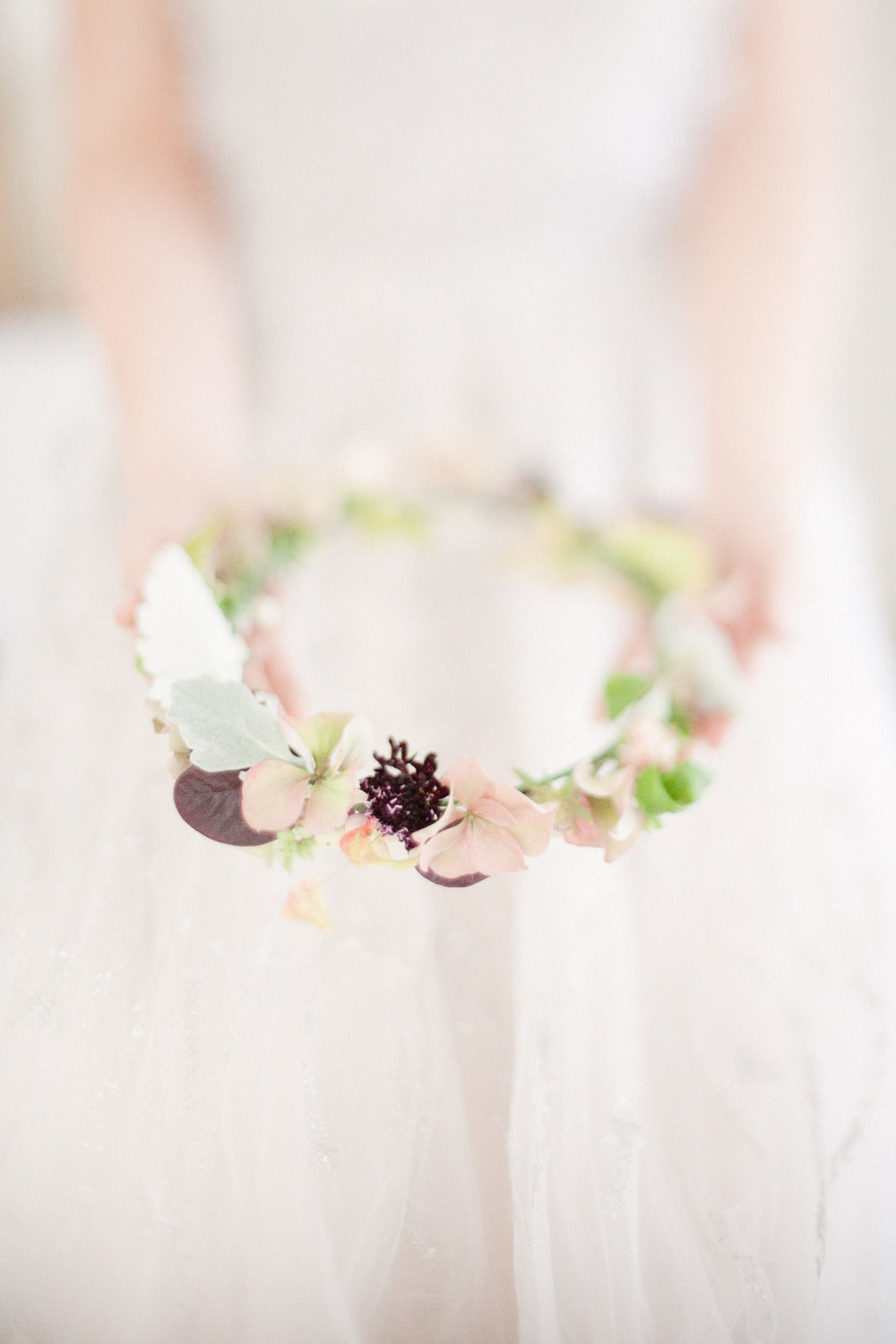 Wedding flower crown for Bride, a great wedding idea