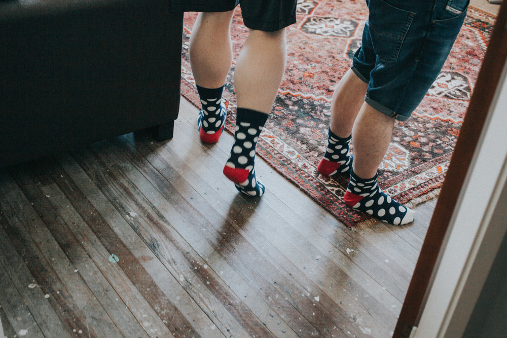 Groom's socks to wear with wedding suit