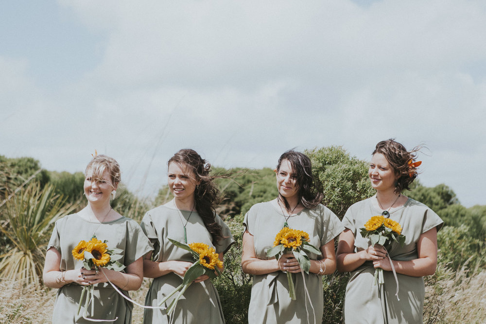Khaki green wedding dresses for Bridesmaids