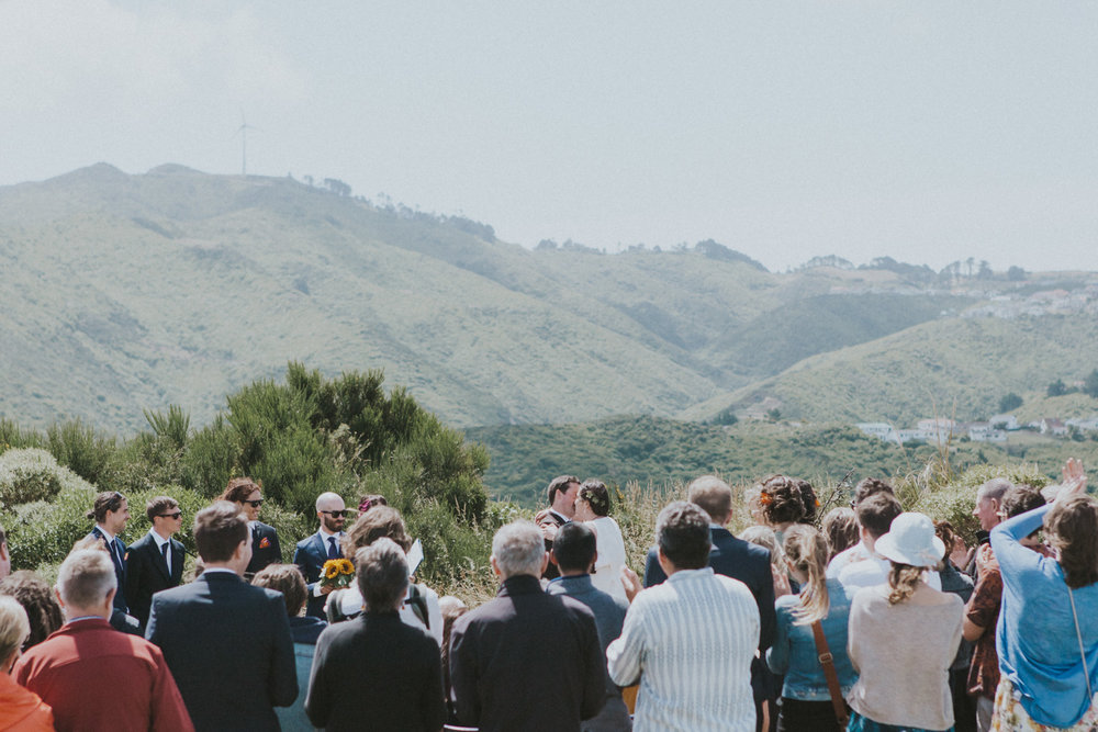 Wedding ceremony with amazing views of Wellington, New Zealand city