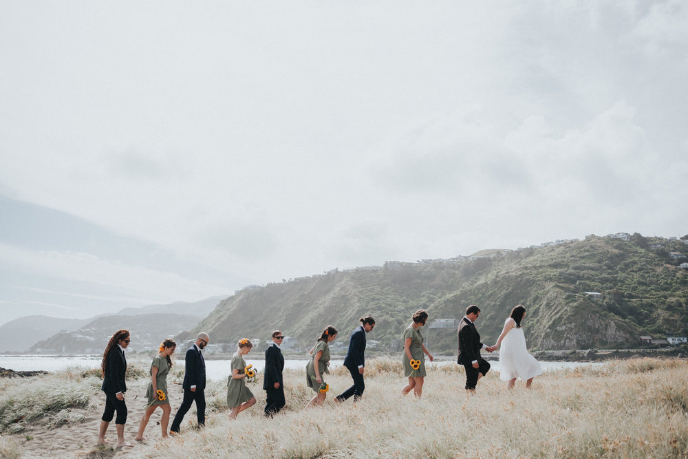 Houghton Bay bridal party wedding photos