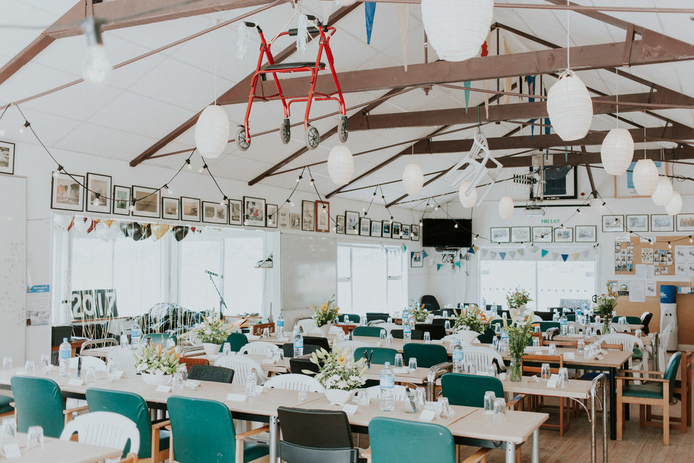 Worser Bay boat club is great for a D.I.Y wedding venue