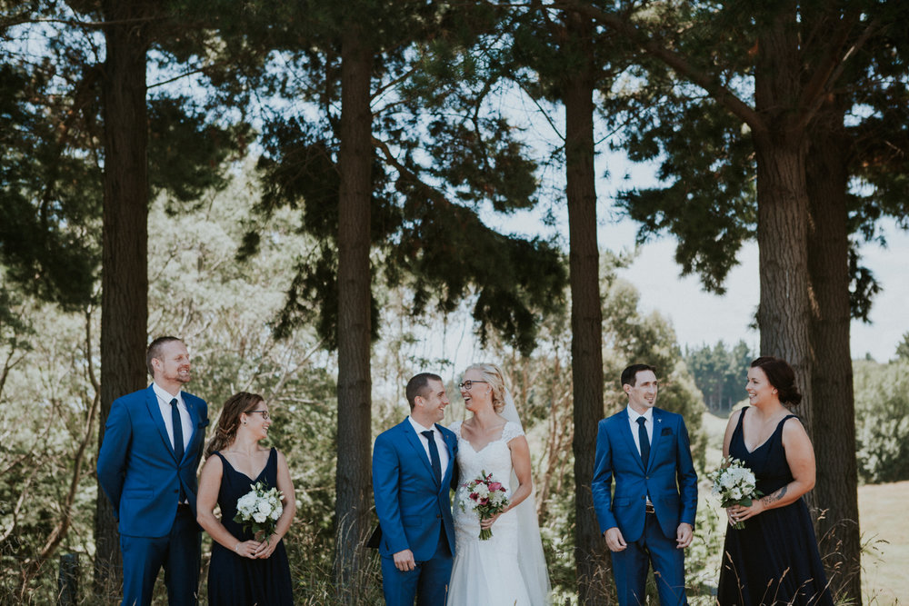Bridal party photos, Kapiti wedding
