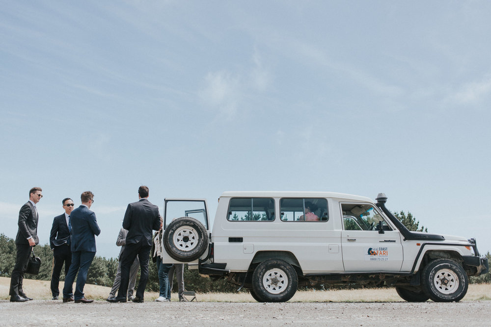 Seal Coast Safari transport to wedding ceremony