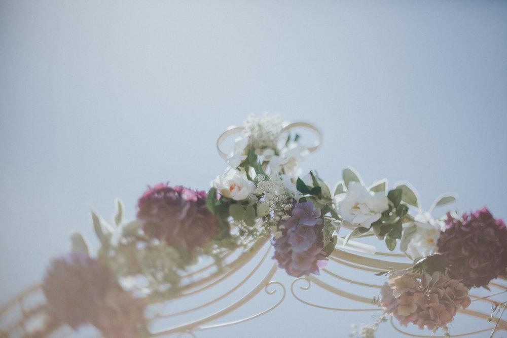 wedding ceremony floarl arch way