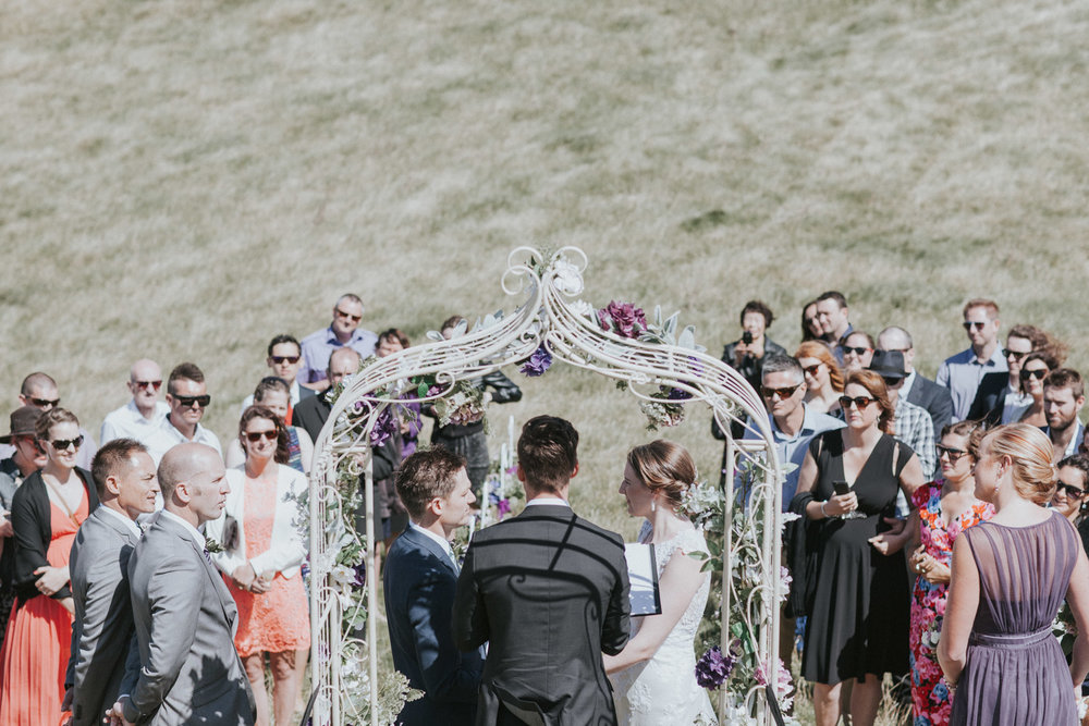 wedding ceremony on a hill top