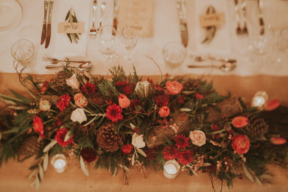 wedding reception flower garland