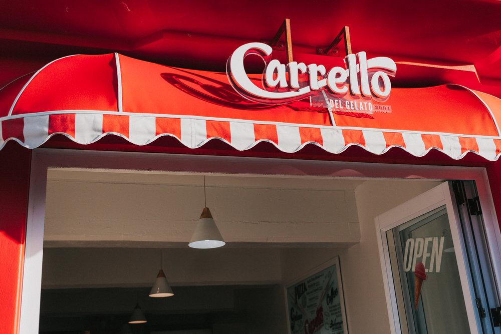 Carrello Del Gelato, Wellington shop front