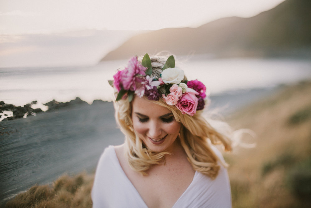 D.I.Y bridal flower crown