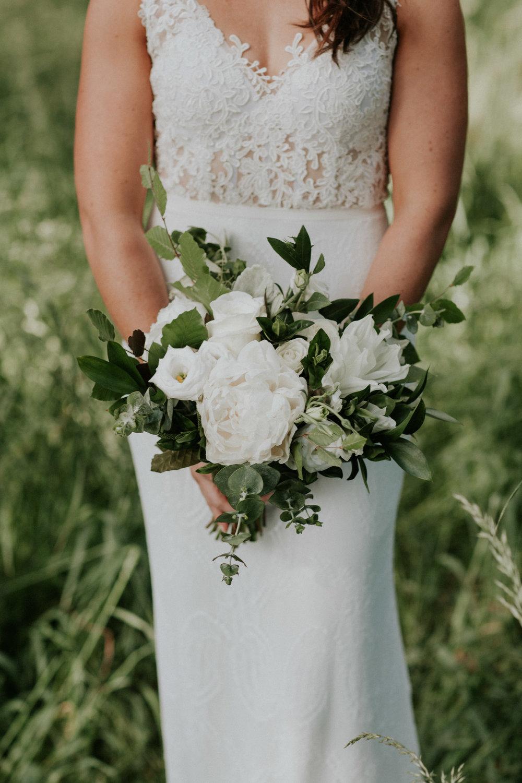 Wedding bouquet by Woodstock Florist