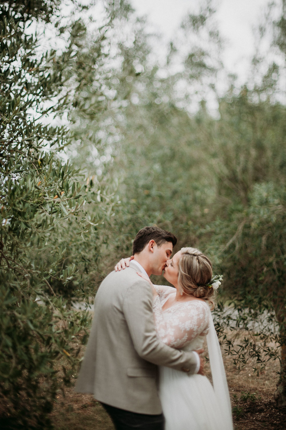 Kissing in the olive grove
