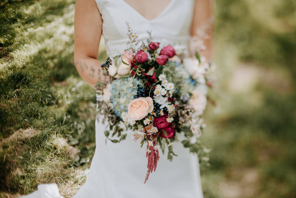 Wedding bouquet by Twig and Arrow