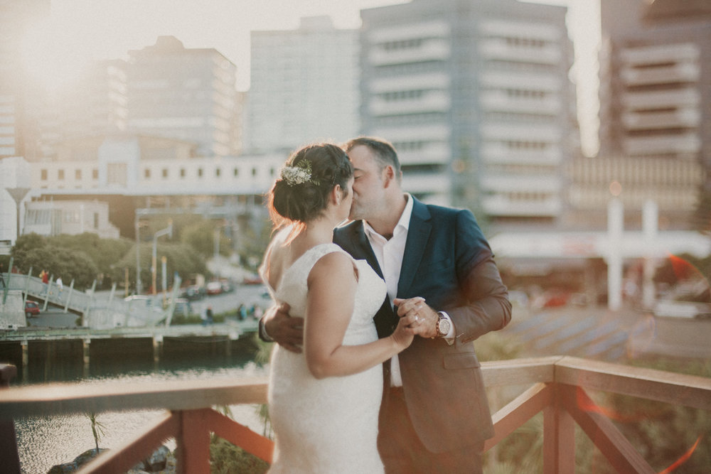 Wellington city wedding