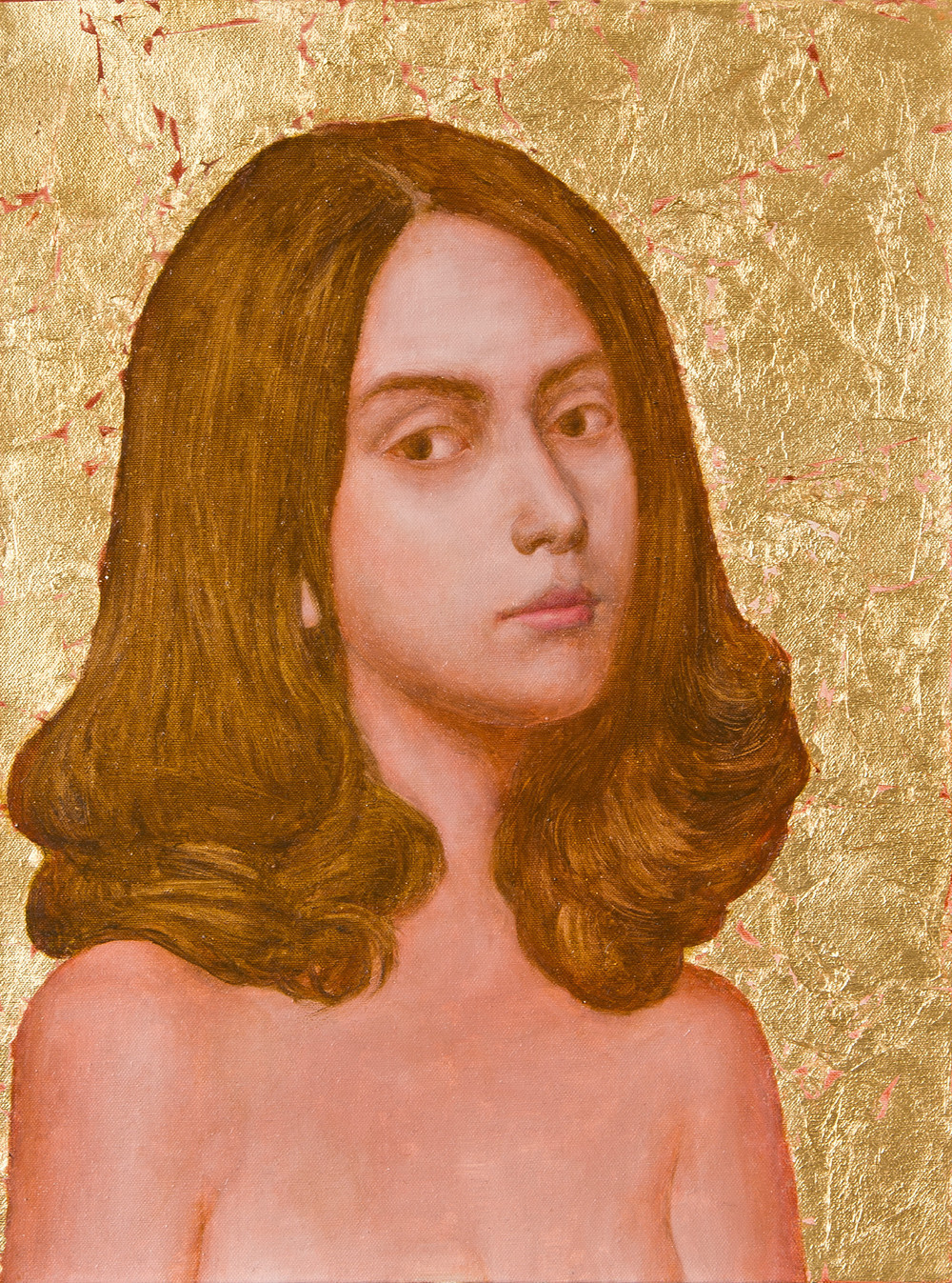 'Isabella'  oil on canvas, gold leaf  year: 2011 size: 500 x 600mm