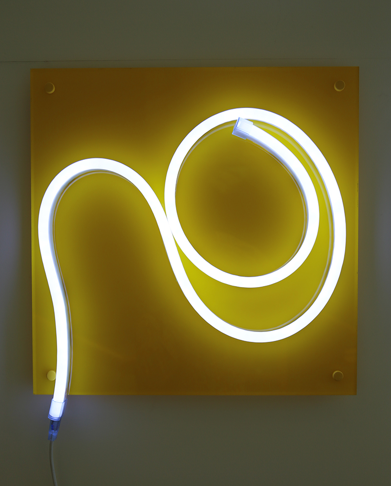 'You'    Light Emitting Diodes , plexiglass, vinyle  year: 2015  size: 500 mm square