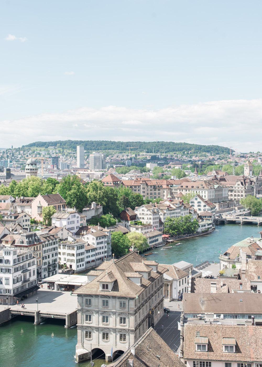 Grossmunster Tower View Zurich Carley Rudd Photography