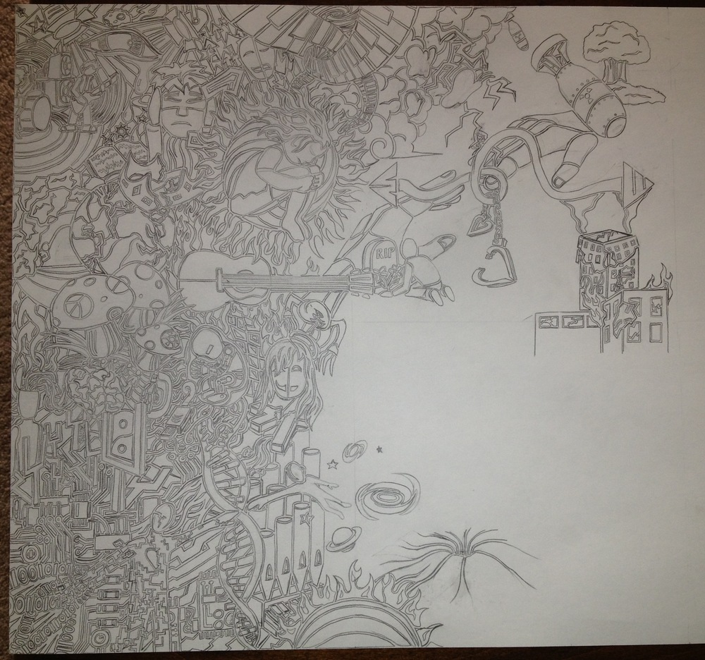 """About 14 hours into """"Musings"""" [36x24]"""