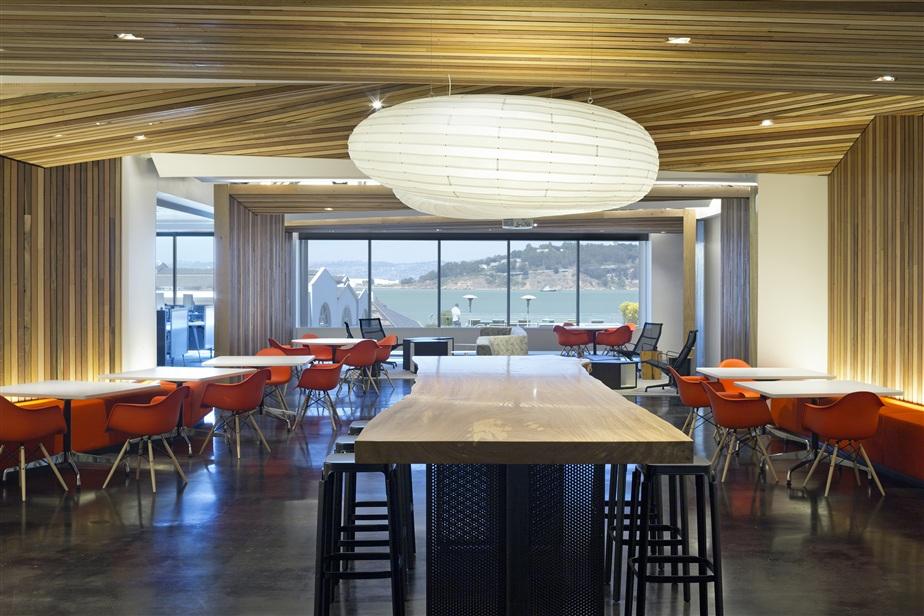 Third Place  :     Autodesk Headquarters, San Rafael, California     Designers: Inga Birkenstock, Jonas Kuo, Hasan Sanli, and Kristin Bibat    Firm: Birkenstock Lighting Design
