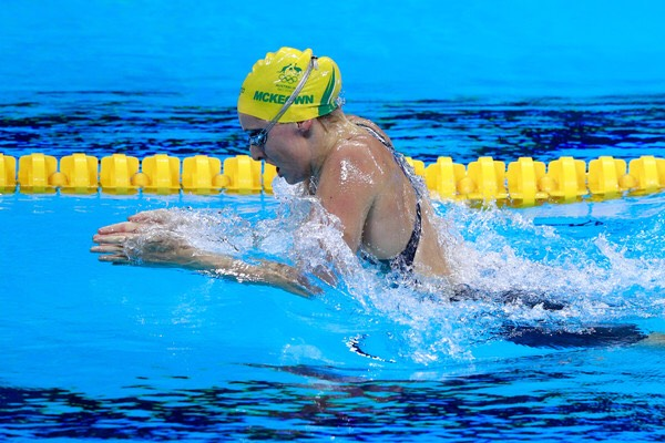Taylor Mckeown swims on the Australian swim team. And is a olympian.