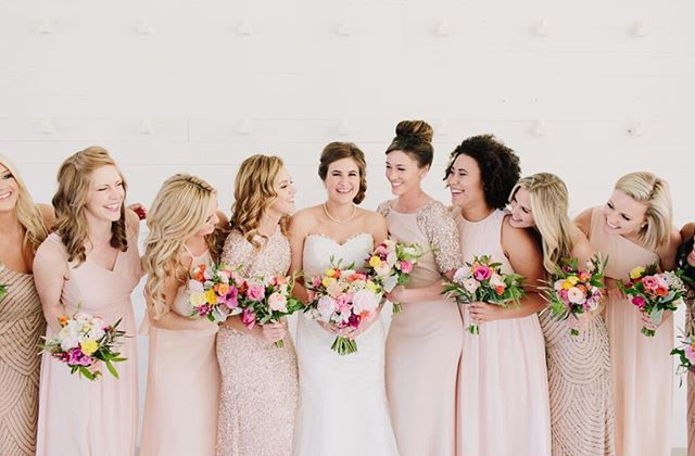 A bride and her babes @prospecthousetx 💐 Another one of these babes weddings is right around the corner and we couldn't be more thrilled about it 💕 📷: @haleyrynnringo