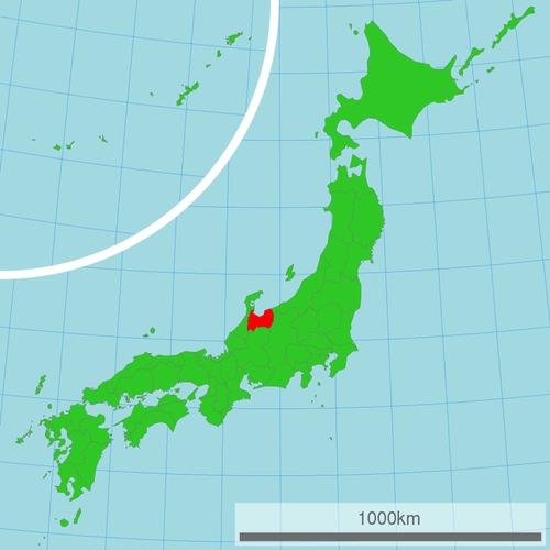 Här ligger Toyama. Bekväm tur med en övernattning från Tokyo.