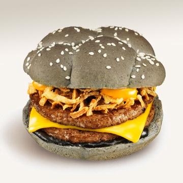 McDonalds variant är inte lika skräckinjagande svart.