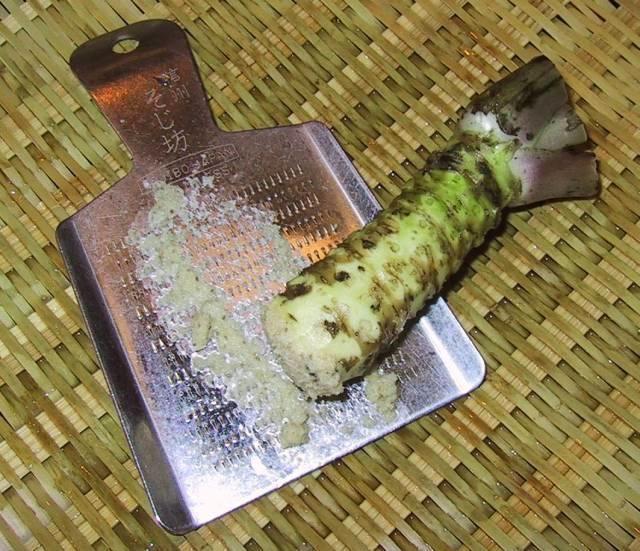 """Wasabi, den japanska pepparroten (som inte är en rot utan själva stammen) är riktig supermedicin. Foto: """"Chris73"""", Creative Commons"""
